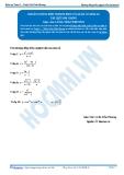 Toán 12: Khoảng đồng biến nghịch biến của hàm số-P2 (Tài liệu bài giảng) - GV. Lê Bá Trần Phương
