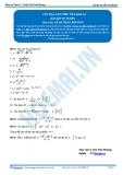 Toán 12: Cực đại, cực tiểu của hàm số (Bài tập tự luyện) - GV. Lê Bá Trần Phương