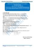 Toán 12: Khoảng đồng biến nghịch biến của hàm số-P1 (Tài liệu bài giảng) - GV. Lê Bá Trần Phương