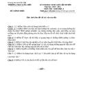 Đề thi học sinh giỏi cấp huyện môn Sinh học lớp 6 (2010-2011) – Phòng GD & ĐT Duyên Hải