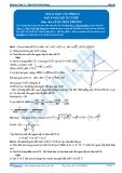Toán 12: Mặt cầu-P2 (Đáp án Bài tập tự luyện) - GV. Lê Bá Trần Phương