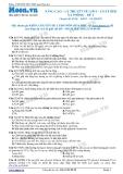 Chuyên đề LTĐH môn Hóa học: Nâng cao-Lý thuyết về lipit-Chất béo xà phòng (Đề 2)