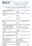 Chuyên đề LTĐH môn Hóa học: Nâng cao-Chỉ số của chất béo-Xà phòng hóa chất béo (Đề 2)