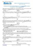 Chuyên đề LTĐH môn Vật lý: Điều kiện hình thành sóng dừng
