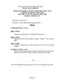 Đề thi tốt nghiệp Cao đẳng Nghề khóa I (2007 - 2010) môn Quản trị mạng máy tính: Đề thi lý thuyết số 31