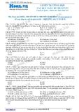 Chuyên đề LTĐH môn Sinh học: Luyện tập tổng hợp các quy luật di truyền (Phần 1)