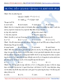 Luyện thi ĐH môn Hóa học 2015: Hướng dẫn giải bài tập hay và khó este (Phần 1.1)