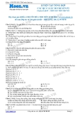 Chuyên đề LTĐH môn Sinh học: Luyện tập tổng hợp các quy luật di truyền (Phần 2)