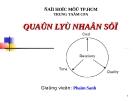 Bài giảng Quản lý nhân sự - GV. Phạm Sanh