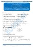 Toán 12: Các phương pháp tính nguyên hàm-P1 (Đáp án Bài tập tự luyện) - GV. Lê Bá Trần Phương
