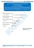 Toán 12: Các phương pháp tính nguyên hàm-P2 (Bài tập tự luyện) - GV. Lê Bá Trần Phương