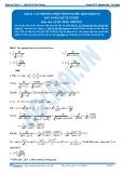 Toán 12: Các phương pháp tính nguyên hàm-P3 (Đáp án Bài tập tự luyện) - GV. Lê Bá Trần Phương
