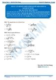 Toán 12: Các phương pháp tính nguyên hàm-P3 (Bài tập tự luyện) - GV. Lê Bá Trần Phương