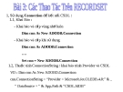 Bài giảng Lập trình trực quan - Bài 3: Các thao tác trên RecordSet