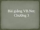 Bài giảng VB.net - Chương 3: Thủ Tục và Hàm