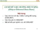 Bài giảng Cơ sở dữ liệu hướng đối tượng - Đoàn Văn Ban