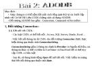 Bài giảng Lập trình trực quan - Bài 2: ADODB