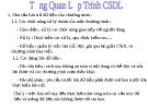 Bài giảng Lập trình trực quan (Ngôn ngữ Visual Basic): Bài 1 - Tổng quan lập trình cơ sở dữ liệu