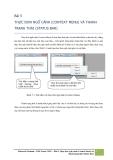 Tài liệu Windows Presentation Foundation: Bài 5 Thực đơn ngữ cảnh (context menu) và thanh trạng thái (status bar)