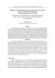 Tạp chí khoa học: Nghiên cứu ảnh hưởng của các nguyên tố vi lượng B, Mn, Cu, Zn đến tính chịu hạn và chịu nóng của cây vừng