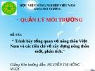 Đề tài: Trình bày tổng quan về nông thôn Việt Nam và các tiêu chí về xây dựng nông thôn mới-phân tích