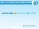 Bài giảng PHP & MySQL - Vũ Công Tịnh