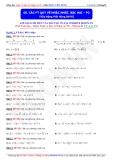 Toán học lớp 10: Các phương trình quy về bậc nhất, bậc hai (Phần 3) - Thầy Đặng Việt Hùng