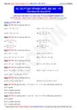 Toán học lớp 10: Các phương trình quy về bậc nhất, bậc hai (Phần 2) - Thầy Đặng Việt Hùng