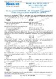 Chuyên đề LTĐH môn Vật lý: Đặc trưng sinh lý và vật lý của âm (Đề 2)