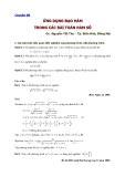Chuyên đề Ứng dụng đạo hàm trong các bài toán hàm số - GV. Nguyễn Tất Thu