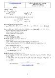 Đề và đáp án ôn tập Toán 11 HK 2 (Đề số 5)