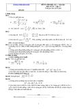 Đề và đáp án ôn tập Toán 11 HK 2 (Đề số 8)