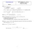 Đề và đáp án ôn tập Toán 11 HK 2 (Đề số 9)