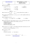 Đề và đáp án ôn tập Toán 11 HK 2 (Đề số 3)
