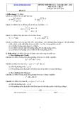 Đề và đáp án ôn tập Toán 11 HK 2 (Đề số 21)