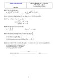 Đề và đáp án ôn tập Toán 11 HK 2 (Đề số 14)
