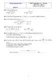 Đề và đáp án ôn tập Toán 11 HK 2 (Đề số 13)