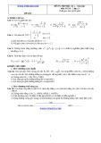 Đề và đáp án ôn tập Toán 11 HK 2 (Đề số 6)
