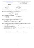 Đề và đáp án ôn tập Toán 11 HK 2 (Đề số 15)