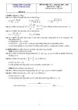 Đề và đáp án ôn tập Toán 11 HK 2 (Đề số 18)