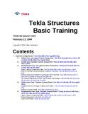 Hướng dẫn sử dụng phần mềm Tekla - Lesson 4: Các bộ phận theo người dùng