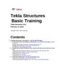 Hướng dẫn sử dụng phần mềm Tekla - Lesson 3: Tạo liên kết hỗ tương