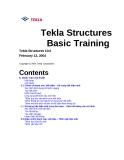 Hướng dẫn sử dụng phần mềm Tekla - Lesson 6: Danh mục kỹ thuật