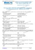 Chuyên đề LTĐH môn Hóa học: Nâng cao-Phương pháp xác định vị trí cấu tạo của kim loại (phần 2)