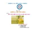 Tiểu luận Hương liệu mỹ phẩm: Sản xuất nước hoa từ tinh dầu họ Citrus