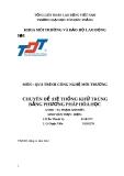Tiểu luận Quá trình công nghệ môi trường: Hệ thống khử trùng bằng phương pháp hóa học