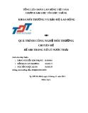 Báo cáo chuyên đề: Bể SBR trong xử lý nước thải