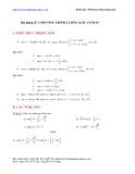 Bài giảng số 1: Phương trình lượng giác cơ bản