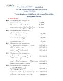 Tuyển tập phương trình lượng giác trong đề thi Đại học