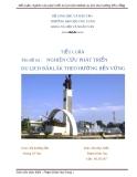 Tiểu luận: Nghiên cứu việc phát triển du lịch tỉnh Đăklăk theo hướng bền vững